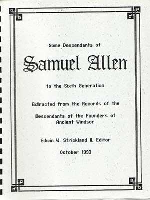 Some Descendants of Samuel Allen