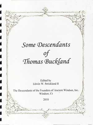 Some Descendants of Thomas Buckland